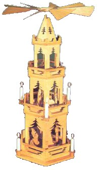 Laubsägevorlage Pyramide Tannenbaum