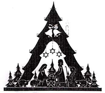 Vorlage Krippenbaum doppelt