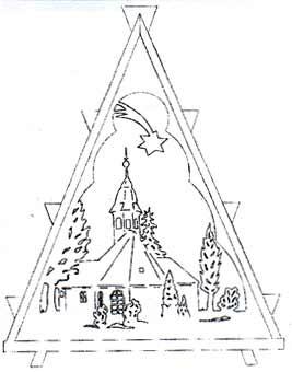 Vorlage Lichterbaum Kirchen im Erzgebirge