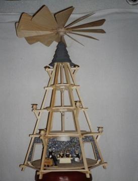 Laubsägevorlage Pyramide Göpel 2