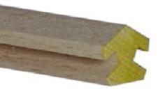 Pyramideneckleiste 1m lang 8eck 4mm Nut