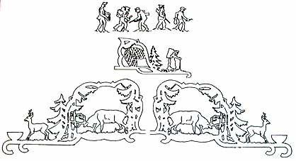 Vorlage Hängepyramide Erzgebirgische Motive