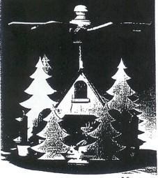 Laubsägevorlage Pyramide kleines Försterhaus