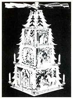 Laubsägevorlage Märchenpyramide