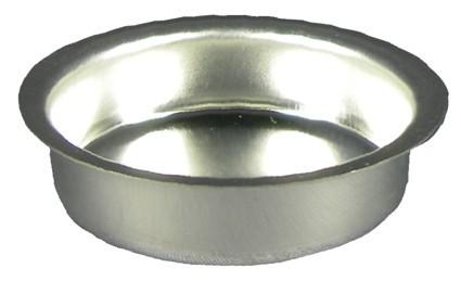 Lichtertülleneinsatz 40mm, H 18mm Weißblech