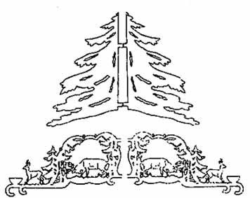 Vorlage Hängepyramide Wald Motive