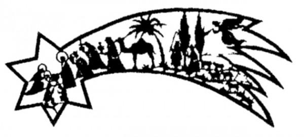 Laubsägevorlage Sternschnuppe