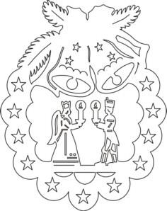 Vorlage Fensterbild Engel und Bergmann