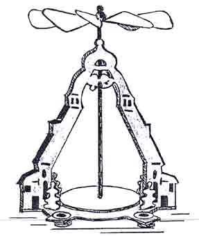 Laubsägevorlage Tischpyramide
