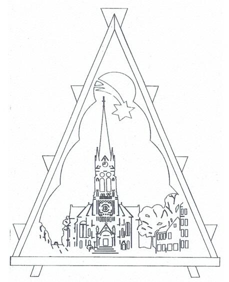 Laubsäge- Vorlage Nr. 10 Kirche St. Nikolai zu Aue