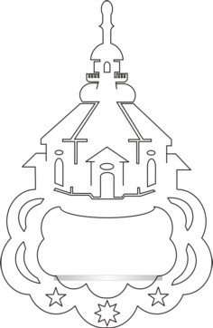 Vorlage Fensterbild Seiffner Kirche für Figur
