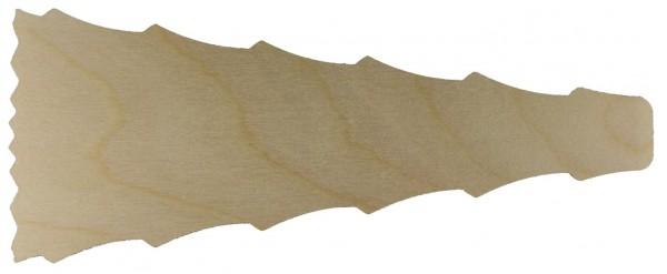Pyramidenflügel gezackt BL 24cm