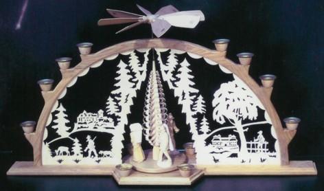 Laubsäge- Vorlage Lichterbogen mit Pyramide