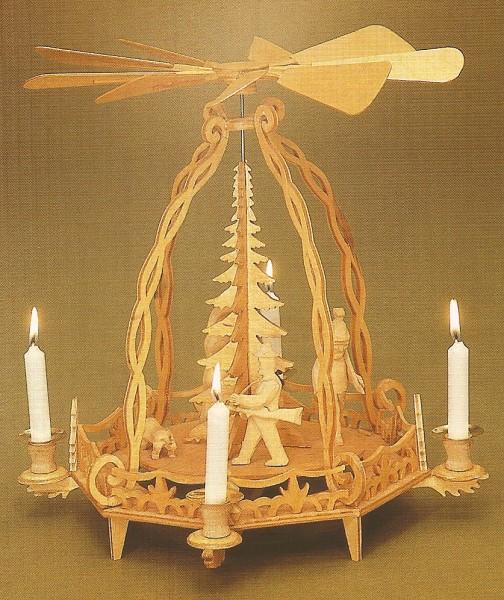 Laubsägevorlage Waldpyramide S07