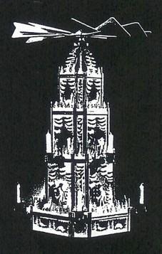 Laubsägevorlage Weihnachtspyramide