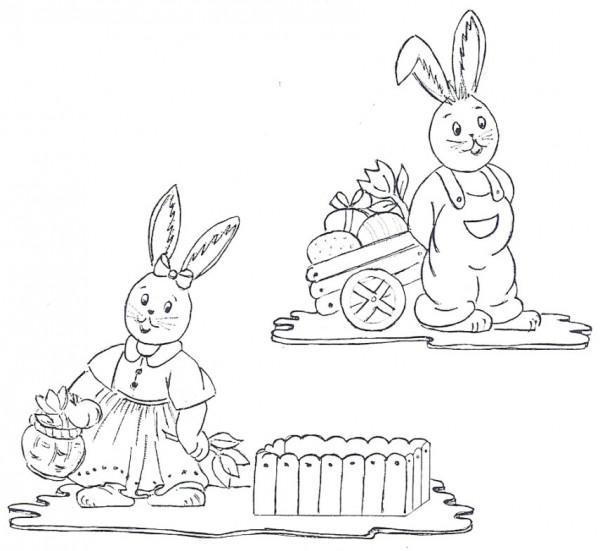 Vorlage für Osterfiguren