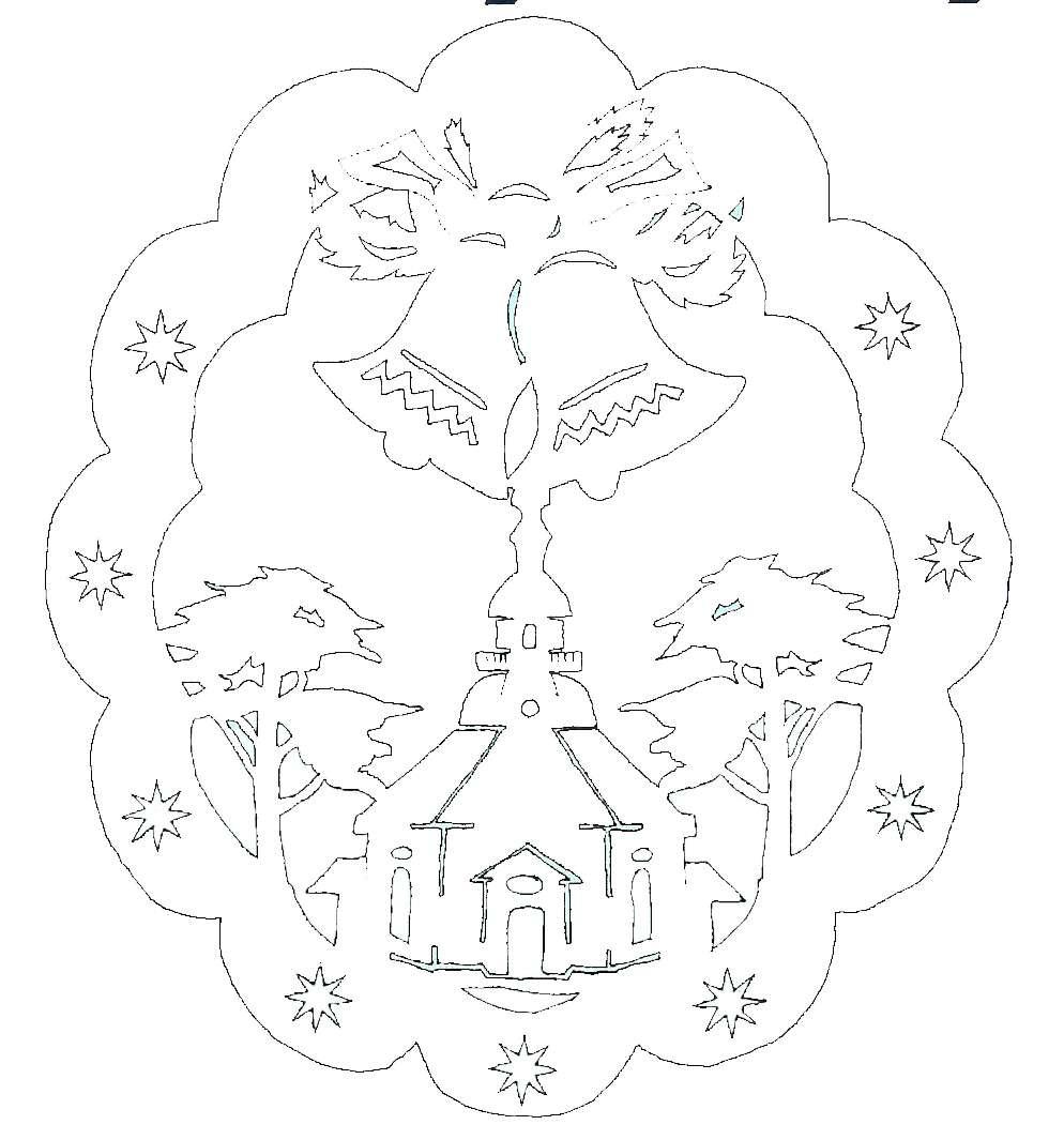 Vorlage doppeltes Fensterbild Seiffner Kirche mit Glocken ...