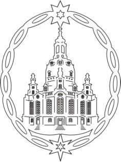 Vorlage Fensterbild Dresdner Frauenkirche