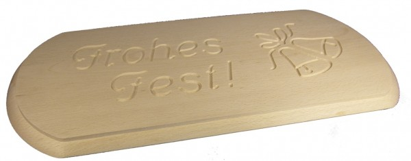 Stollenbrett mit Schriftzug 52,0 x 22,3 cm