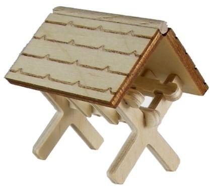 Futterkrippe mini, H: 35 mm, gerades Dach